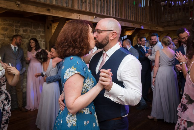Wedding guests dancing at Swallows Oast wedding venue, Ticehurst, East Sussex | Oakhouse Photography