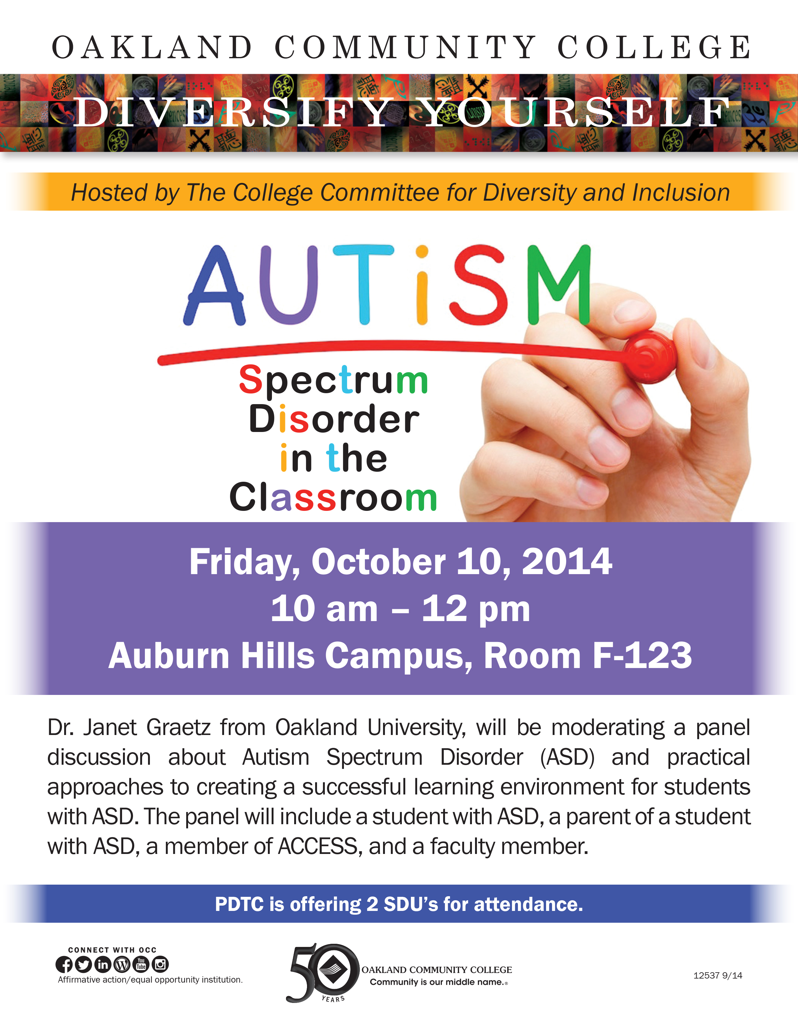 Occ Hosts Autism In The Classroom Panel Discussion