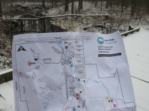A photo of a map of the park