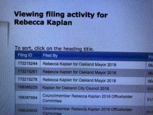 Rebecca Kaplan Oakland Mayoral Filings