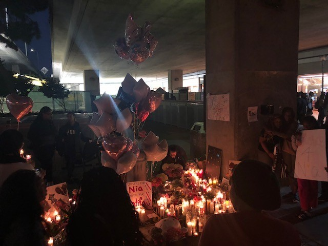 Nia Wilson Protest And Vigil After Arrest of John Lee Cowell At Oakland Mac Arthur BART Station