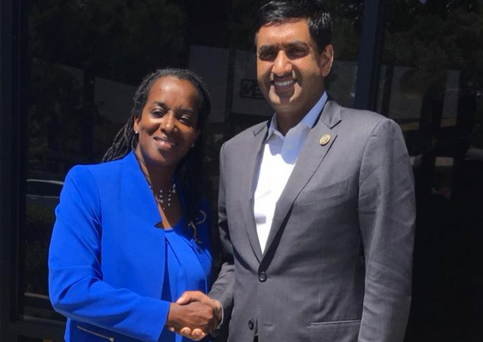 Jovanka Beckles, CA District 15 Candidate, Meets Ro Khanna, US Congressman