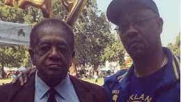 Davey D and Bobby Seale At Pan African Festival In Oakland