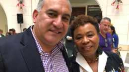 Joseph Tanios and Congresswoman Lee