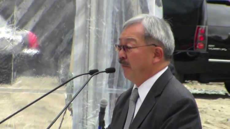 SF Mayor Ed Lee Thanks Maria Ayerdi Kaplan Salesforce Transit Center Developer For Her Work