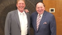 Oakland Raiders Owner Mark Davis with Las Vegas Sands Sheldon Adelson