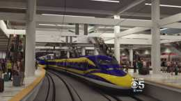 Caltrain High Speed Rail In Transit Center