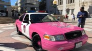 Oakland Police Brest Cancer Awareness Car