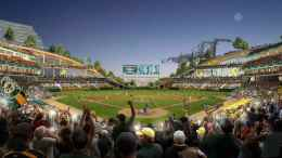Oakland As Howard Terminal Ballpark Interior - Oakland Athletics, BIG Architects, SPUR Talk Howard Terminal Ballpark Plan On Facebook Live