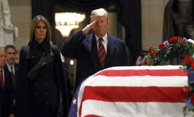 President Trump's Official Message To Congress On The Death Of George H.W. Bush