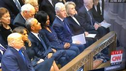 The Presidents Trump, Obama, Clinton, Carter, at George HW Bush Funeral