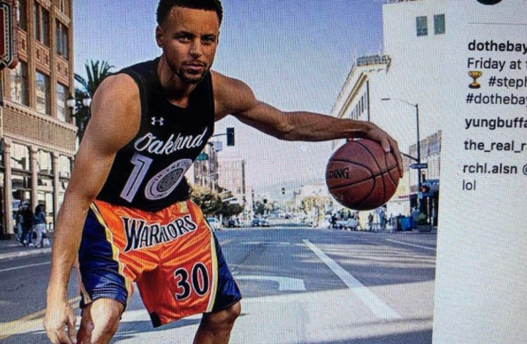 Steph Curry On Telegraph Av Before Free Concert At Fox Oakland