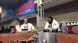92 9 the game dukes bell on supe - 92.9 The Game Dukes & Bell On Super Bowl Radio Row SBLIII