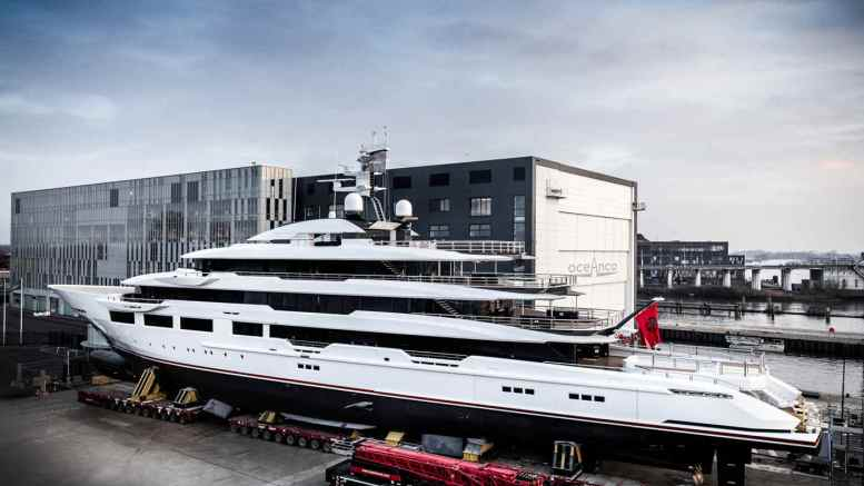 Oceanco's new 90-meter superyacht Y716 DreAMBoat was successfully launched on 13 February 2019