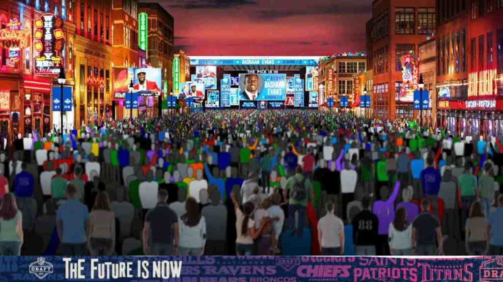 2019 NFL Draft Nashville Night Time Photo