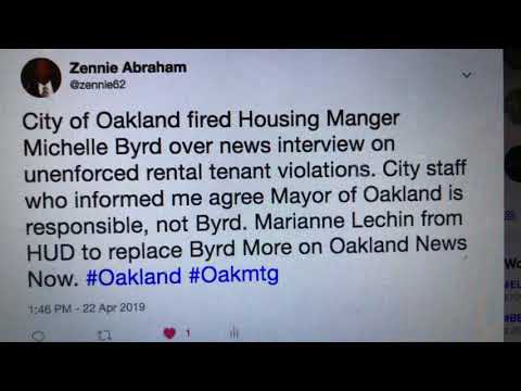 Michelle Byrd Fired By City Of Oakland Over News Interview On Rental Evictions