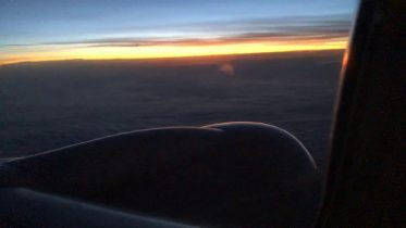 Sunrise On United Airlines Boeing 737 800w Bound For Atlanta From Sfo