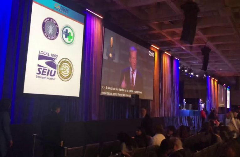 Tom Steyer's Speech Gets Drowned By Music At California Democratic Convention