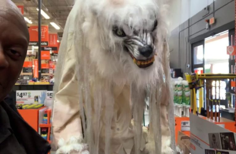 Tall Werewolf At Home Depot Fayettville GA Ready For Halloween
