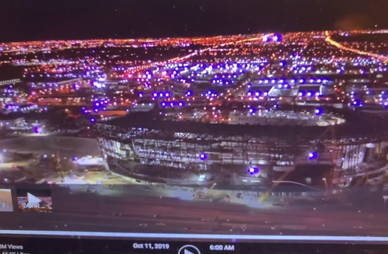 Las Vegas Allegiant Stadium Construction Update: Working On Curtain Walls 10-11-2019