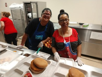 Nutrition Services staff at Elmhurst United Middle School Oakland
