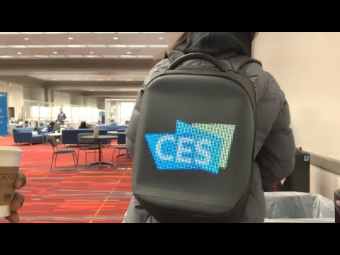 Leaving CES 2020 Las Vegas And Check Out The High-Tech Backpack Display From China