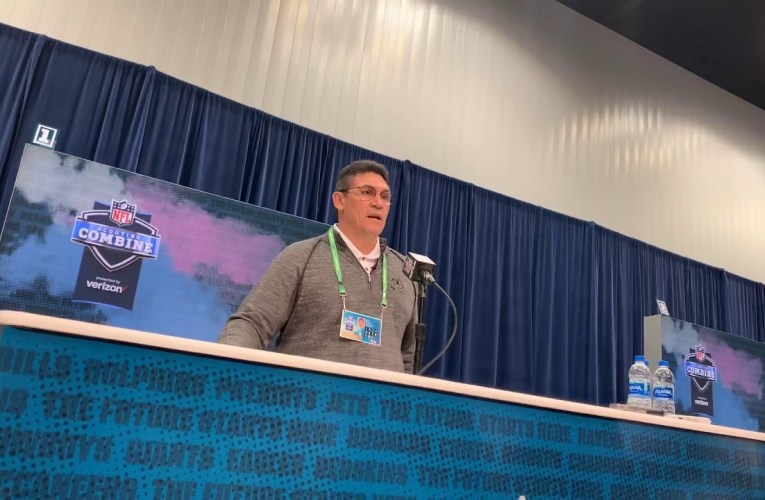 Ron Rivera Washington Redskins Head Coach Interview At NFL Combine 2020