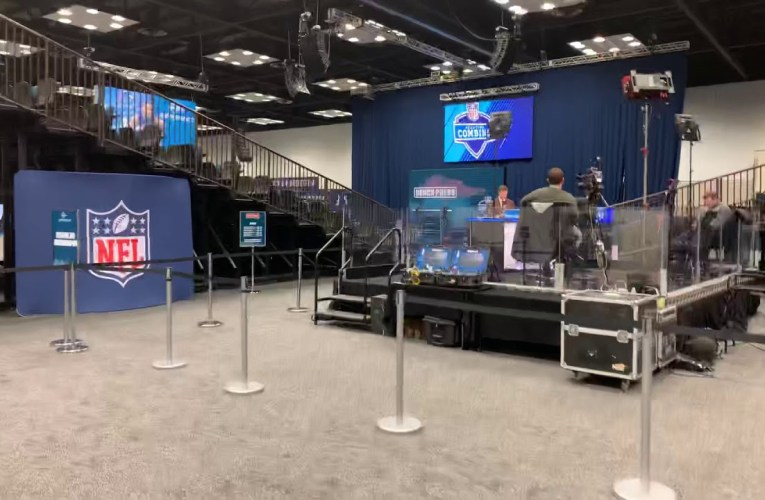 The Bench Press Stage At The 2020 NFL Combine Experience Indianapolis