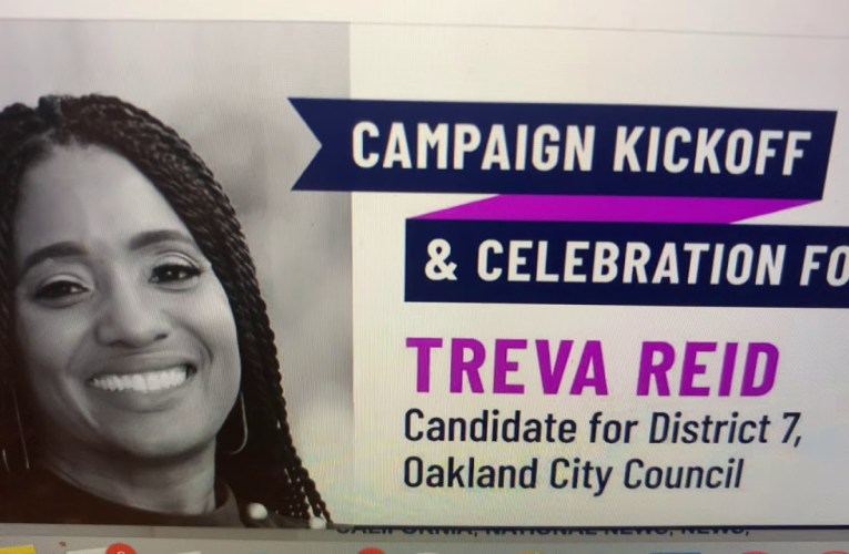 Treva Reid Officially Announces Run For The Oakland City Council District 7 Seat Held By Her Father