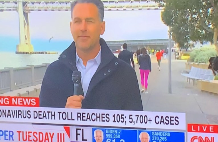 """CNN's Dan Simon In San Francisco On The Embarcadero, Not """"Downtown"""", Talking """"Shelter In Place"""""""