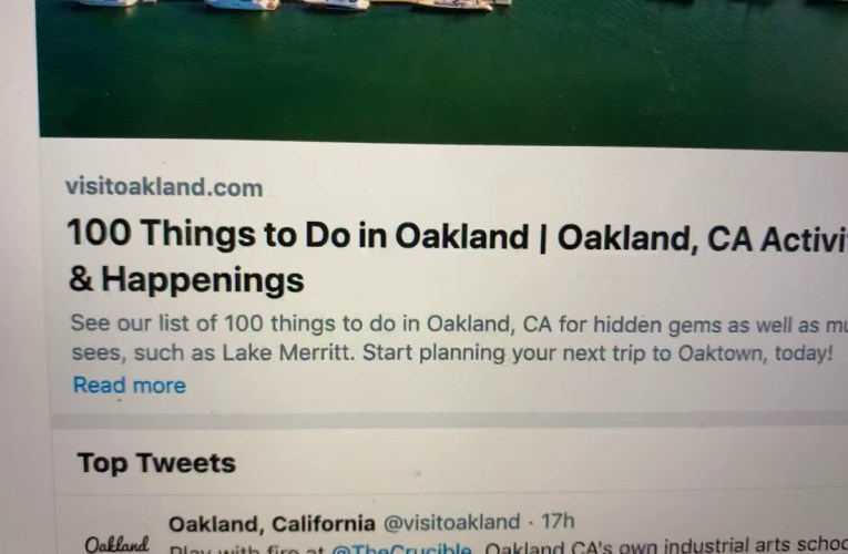 "Visit Oakland Just Issued ""100 Things To Do In Oakland"" – Uh, ""Shelter In Place""?"