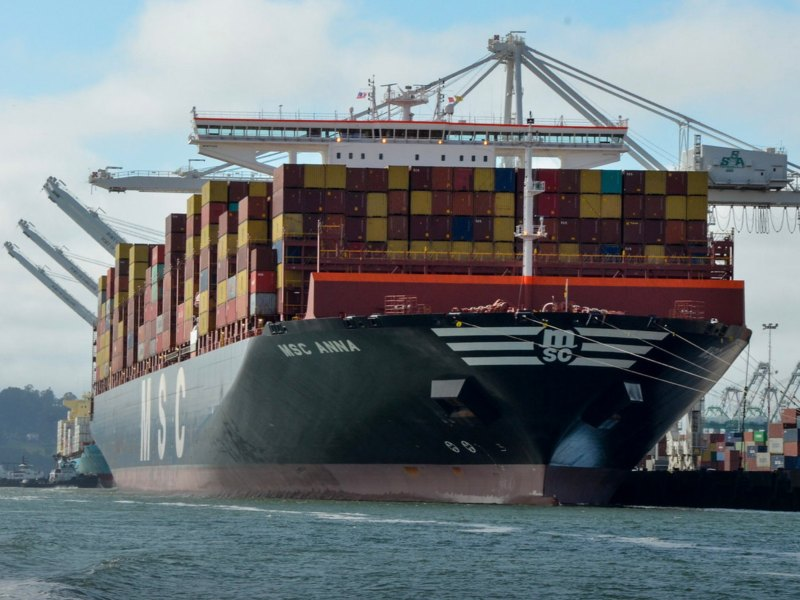 Port of Oakland Says Visit Of Its Biggest Ship Ever MSC Anna Is Going Well