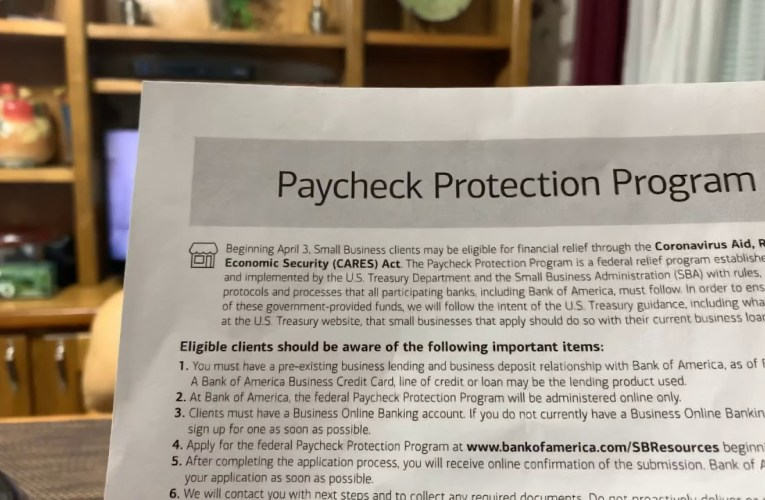 Bank Of America Paycheck Protection Program Website Has Form Page Access Problem