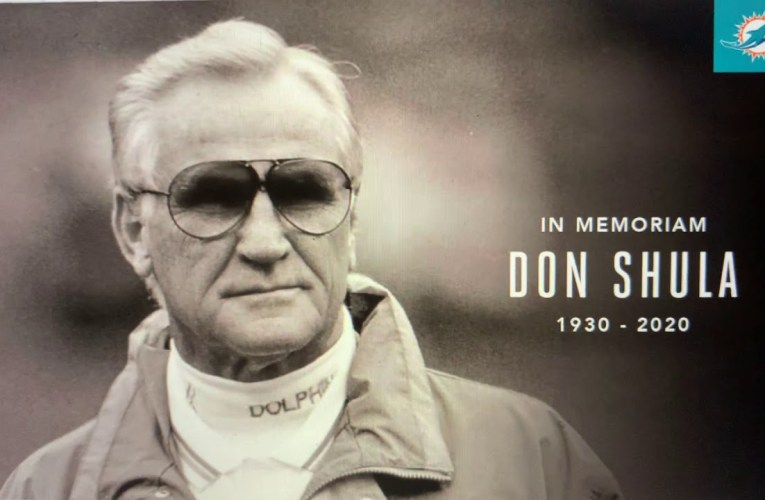 Don Shula Passes At 90: Coached Miami Dolphins To NFL's Only Perfect Record