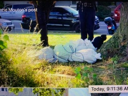 Oakland Police With Fake Body Bag At Lake Merritt