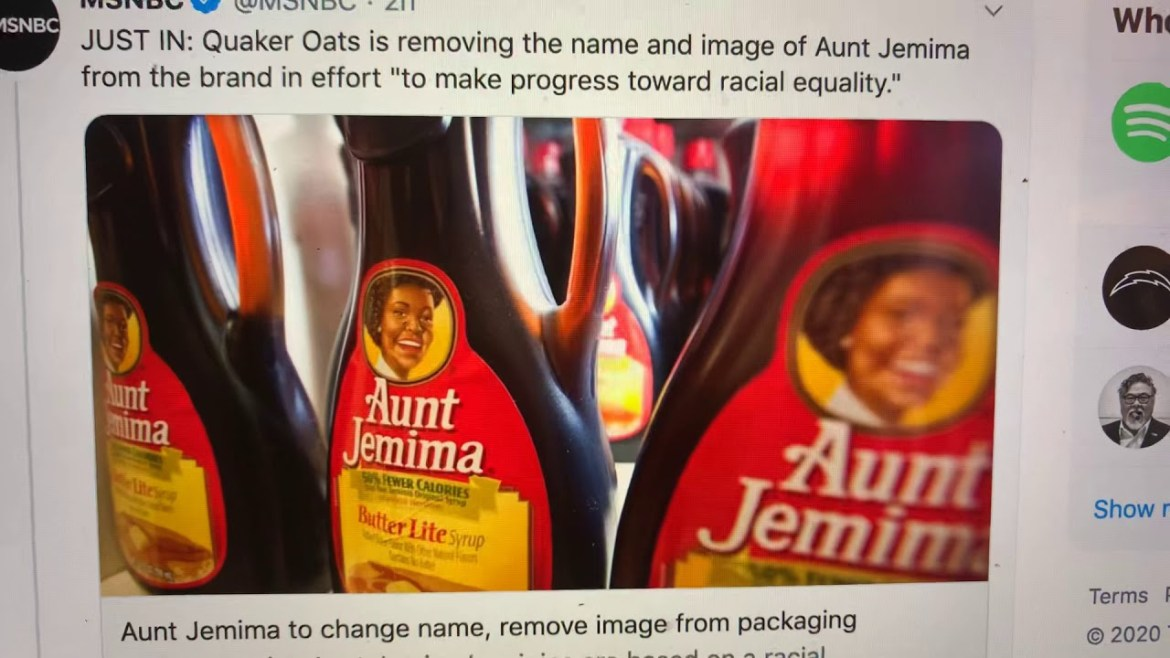 "Aunt Jemima Name: Ouaker Oats To Remove ""Aunt Jemima"" Name, Twitterverse Says Call It ""Aunt Karen"""