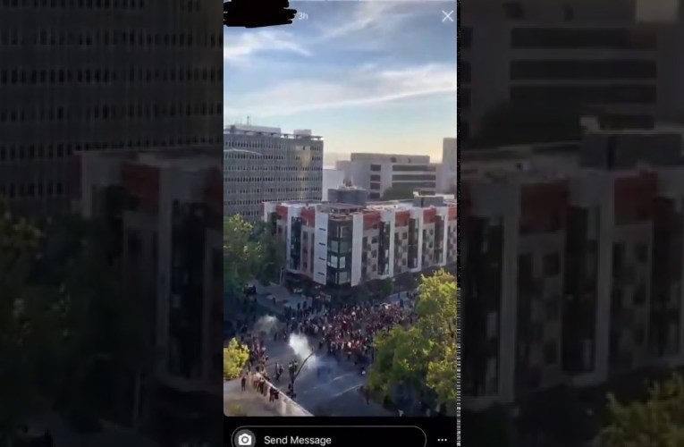Oakland George Floyd Black Lives Matter Video Shows Tear Gas Fired Off At Crowd