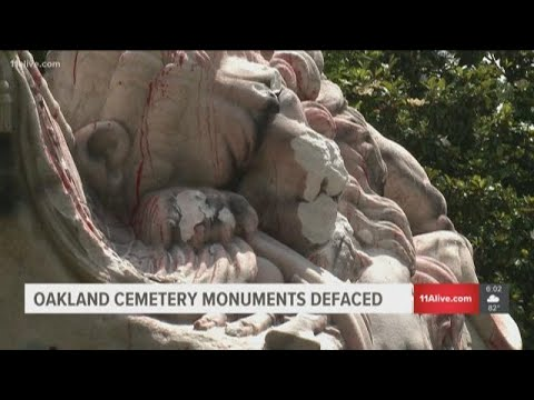 Oakland Cemetery monuments defaced