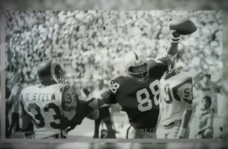 Las Vegas Raiders Legend Raymond Chester Black College Football HOF Induction Video