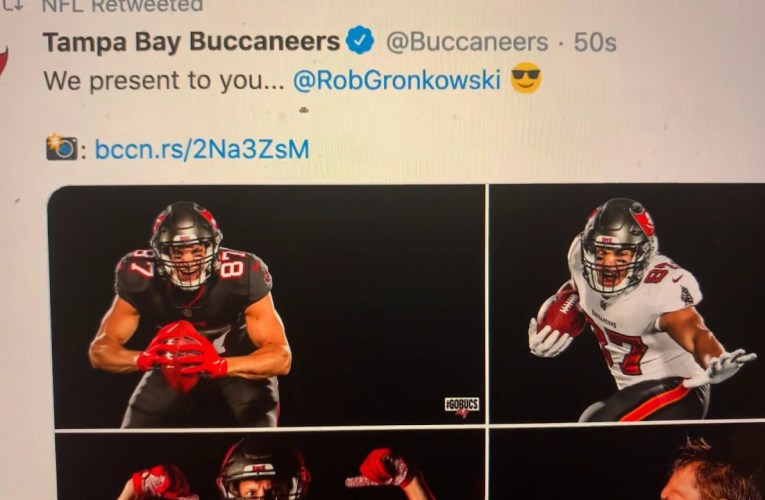 Rob Gronkowski In Bucs Uniform As Tampa Bay Buccaneers Post Photos On Twitter While Gronk Posts Pats