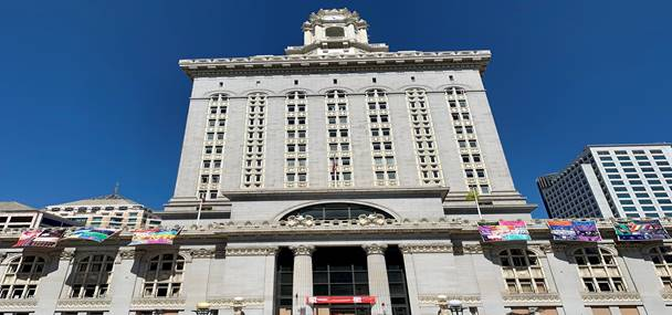 AIDS Quilt Installed At Oakland City Hall