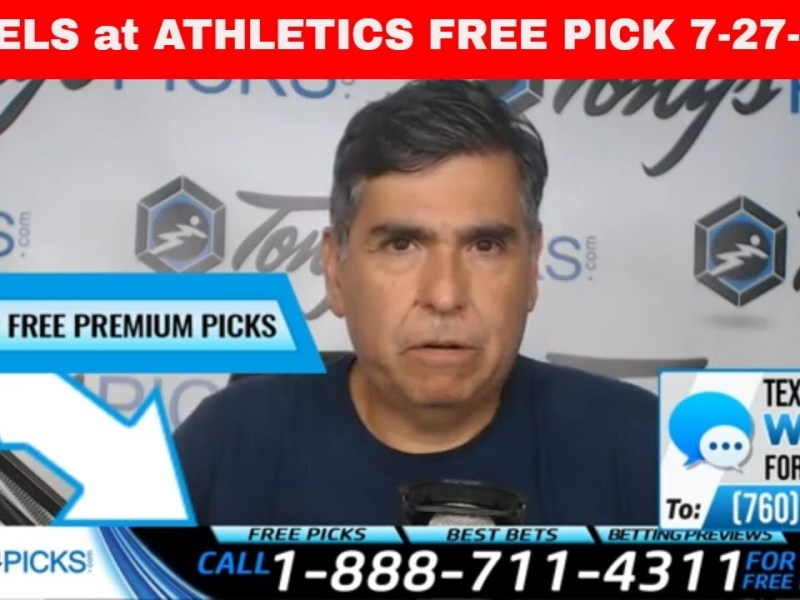 LA Angels vs. Oakland Athletics 7/27/20 FREE MLB Picks and Predictions on MLB Betting Tips for Today