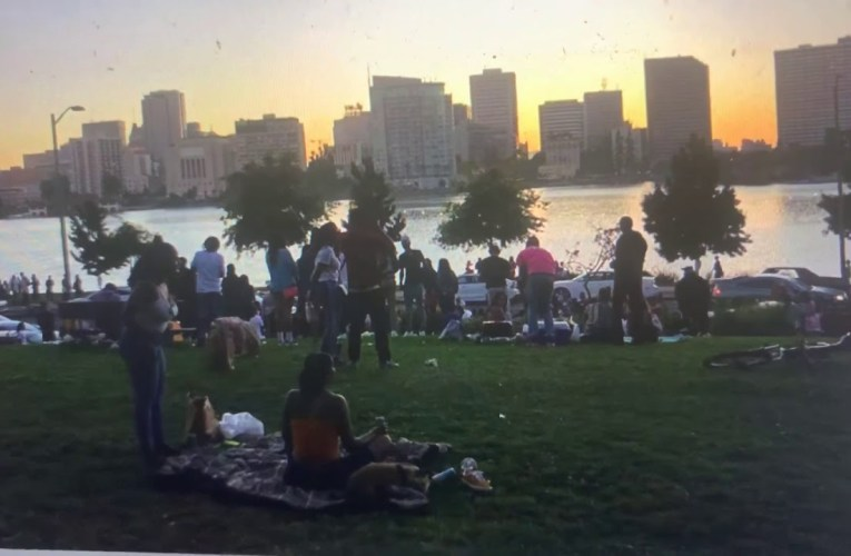 "Oakland Lake Merritt Still Gets Crowded On The Weekend, Even As City Pleads ""Give The Lake A Break"""