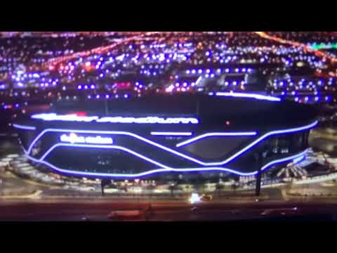 Allegiant Stadium Late Night Law Enforcement Car Stops In Middle Of I-15 Southbound For 30 Minutes