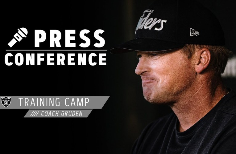 Coach Gruden Discusses the Vibe at 2020 Training Camp, Depth at Safety | Las Vegas Raiders