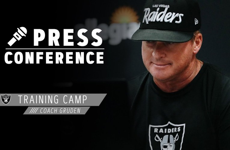 Coach Gruden on Tough Roster Decisions, Proud of Guys Working Together | Las Vegas Raiders