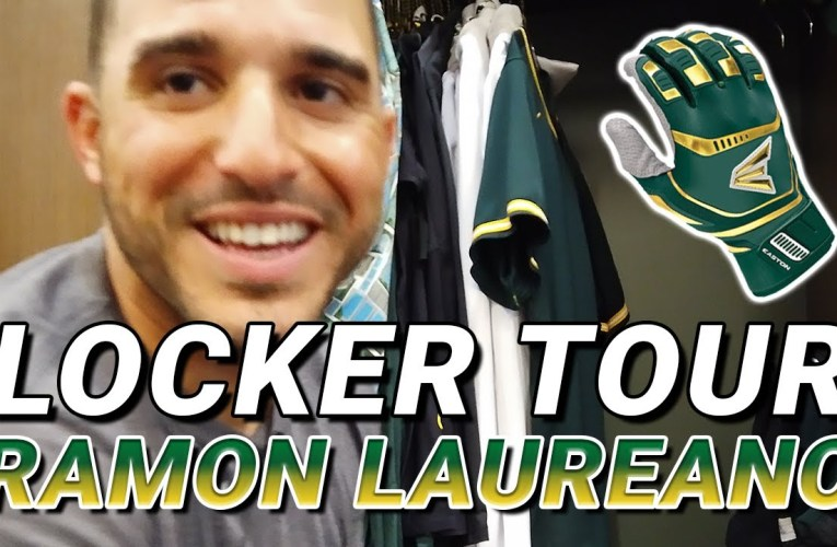 "Locker Tour: Ramon Laureano, Oakland Athletics, aka ""Laser"" Ramon"