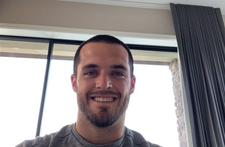 Las Vegas Raiders QB Derek Carr Vlogs On YouTube Live After 1st Game At Allegiant Stadium