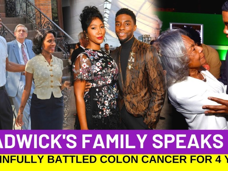 Chadwick Boseman's Family Shares How He Battled Cancer For 4 Years