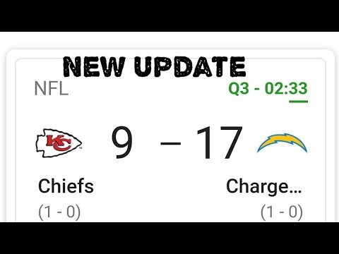 L.A.Chargers Surprisingly Leading The K.C. Chiefs In The 3rd Quarter 17-6 By Joseph Armendariz